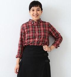 【ビームス ウィメン/BEAMS WOMEN】 BB刺繍 チェック ボタンダウンシャツ [送料無料]