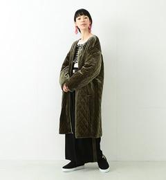 【ビームス ウィメン/BEAMS WOMEN】 ベロア キルティングコート [送料無料]