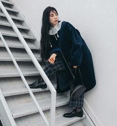 【ビームス ウィメン/BEAMS WOMEN】 【予約】ベロア キルティングコート [送料無料]