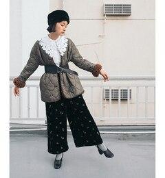【ビームス ウィメン/BEAMS WOMEN】 キルティング×フェイクファー ブルゾン [送料無料]