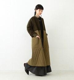 【ビームス ウィメン/BEAMS WOMEN】 【予約】RBS / キルティング キリカエ コート [送料無料]