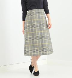 【ビームス ウィメン/BEAMS WOMEN】 Demi-Luxe BEAMS / ウールコットンチェック スカート [送料無料]