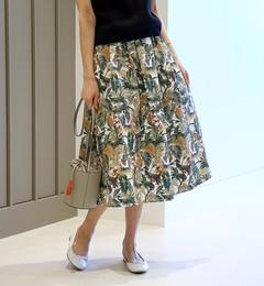 【ビームス ウィメン/BEAMS WOMEN】 BEAMS LIGHTS / ウォッシャブル DEVEAUX ボタニカル スカート [送料無料]