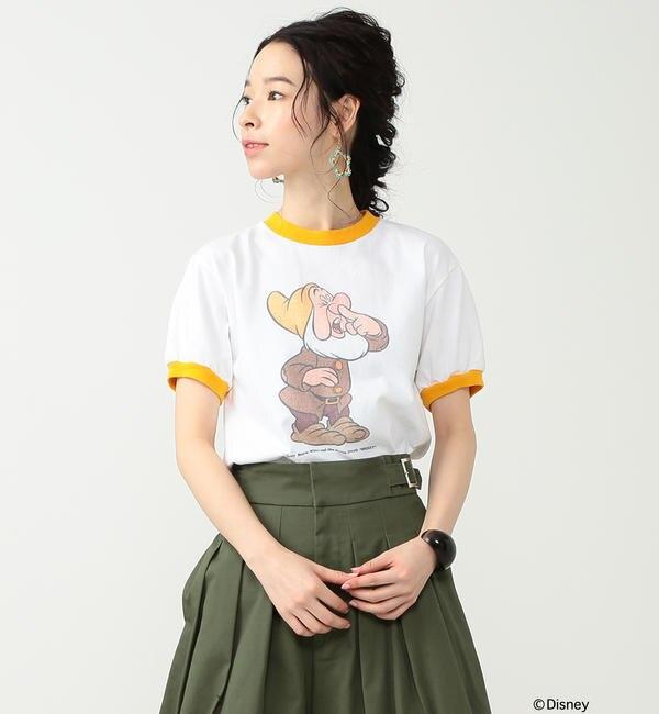south for F / SNEEZY Tシャツ【ビームス ウィメン/BEAMS WOMEN レディス Tシャツ・カットソー WHITE/GOL ルミネ LUMINE】