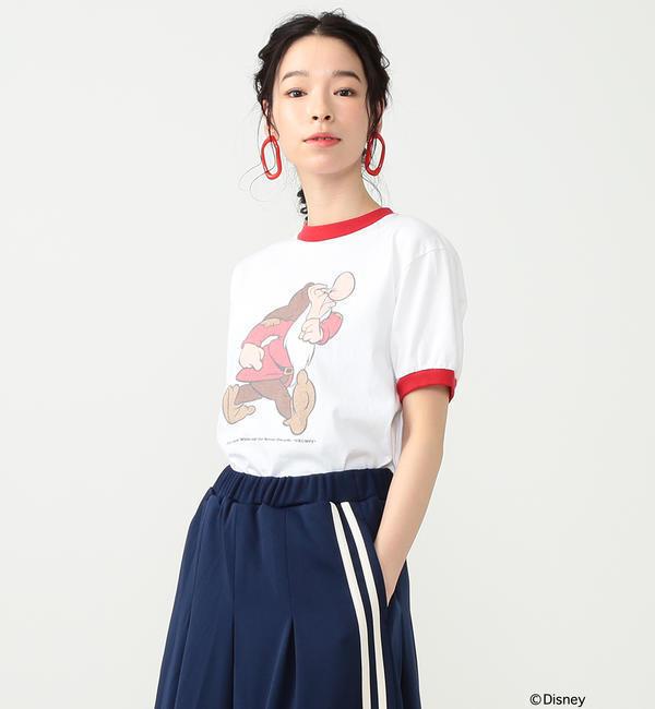 south for F/ GRUMPY Tシャツ【ビームス ウィメン/BEAMS WOMEN レディス Tシャツ・カットソー WHITE/RD ルミネ LUMINE】