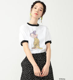 south for F / DOPEY Tシャツ【ビームス ウィメン/BEAMS WOMEN レディス Tシャツ・カットソー WHITE/BK ルミネ LUMINE】
