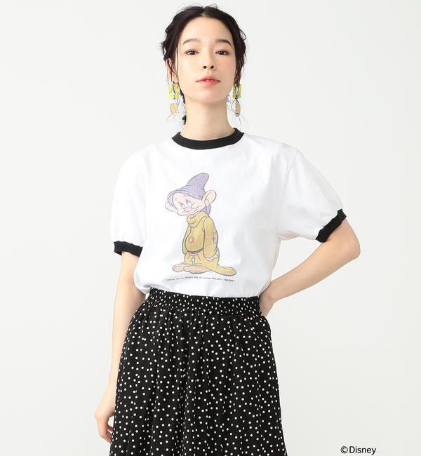 south for F / DOPEY Tシャツ【ビームス ウィメン/BEAMS WOMEN レディス Tシャツ・カットソー WHITE/BK ルミネ LUMINE】