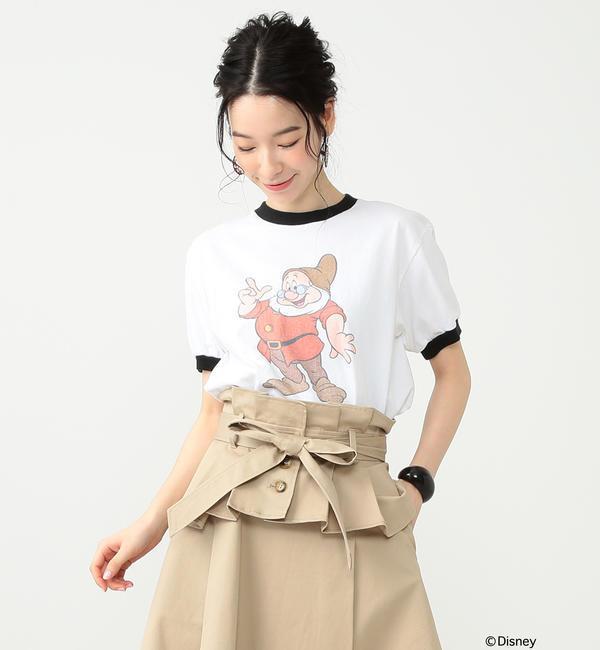 south for F / DOC Tシャツ【ビームス ウィメン/BEAMS WOMEN レディス Tシャツ・カットソー WHITE/BK ルミネ LUMINE】