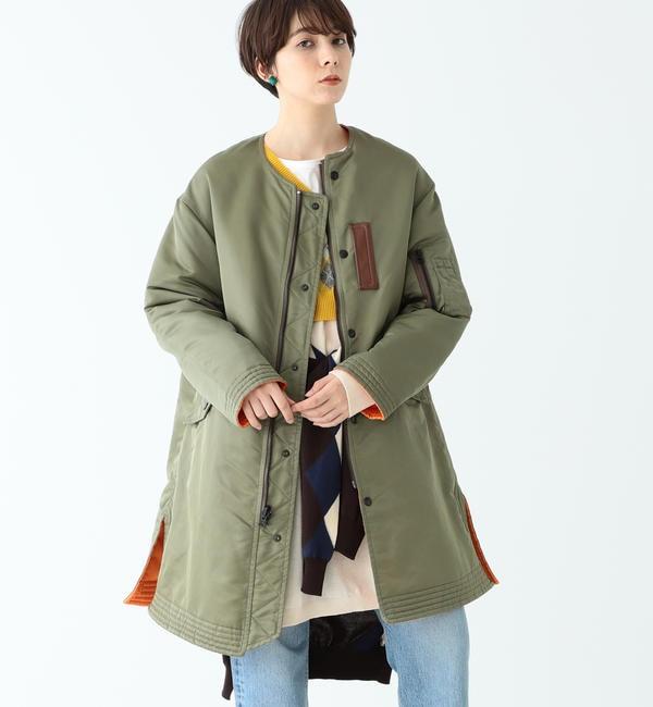 【ビームス ウィメン/BEAMS WOMEN】 A × BEAMS BOY / 別注 フライト リバーシブル コート