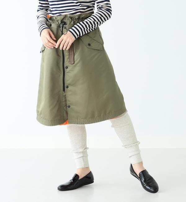 【ビームス ウィメン/BEAMS WOMEN】 A × BEAMS BOY / 別注 フライト スカート