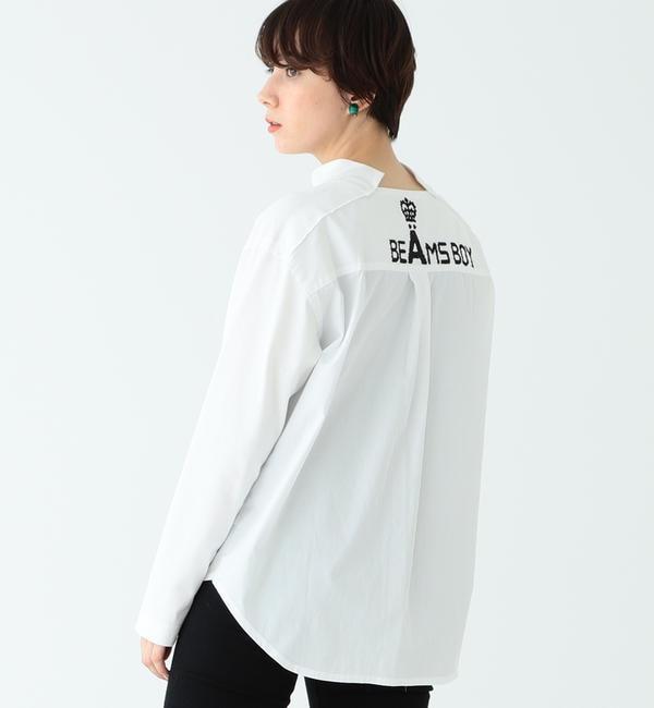 【ビームス ウィメン/BEAMS WOMEN】 A × BEAMS BOY / 別注 ロゴ エンブレム Tシャツ