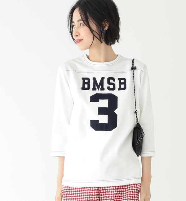 【ビームス ウィメン/BEAMS WOMEN】 BEAMS BOY / テンジク フットボール 3/4 Tシャツ