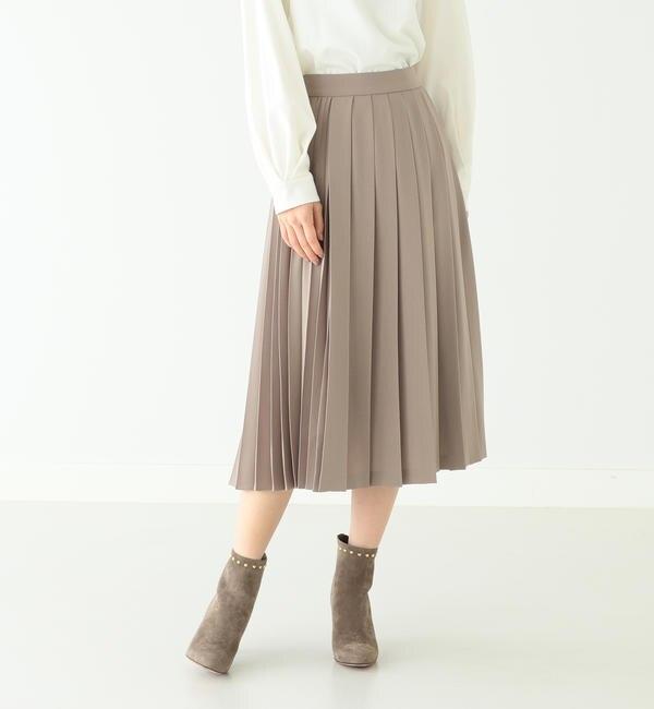【ビームス ウィメン/BEAMS WOMEN】 Demi-Luxe BEAMS / コンビプリーツ スカート