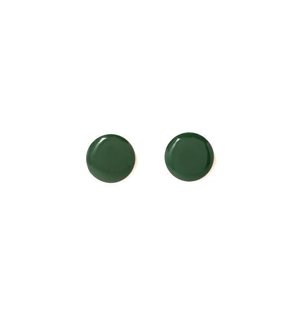 【ビームス ウィメン/BEAMS WOMEN】 Diament Jewelry / グリーン スタッズ ピアス