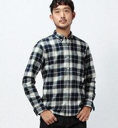 【ビームス メン/BEAMS MEN】 インディゴチェック ボタンダウンシャツ [送料無料]