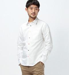 【ビームス メン/BEAMS MEN】 オックス 飾りステッチ マルチボタン シャツ [送料無料]