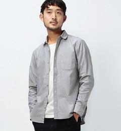 【ビームス メン/BEAMS MEN】 オックス クルミボタン ラウンドシャツ [送料無料]