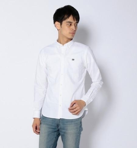 【ビームス メン/BEAMS MEN】 ストレッチ オックス ワンポイントシャツ [送料無料]