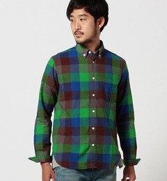 【ビームス メン/BEAMS MEN】 マルチカラー ブロックチェック ボタンダウンシャツ [送料無料]