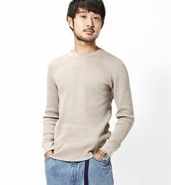 【ビームス メン/BEAMS MEN】 ライトウェイトワッフル サーマル Tシャツ [送料無料]