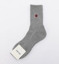 【ビームスメン/BEAMSMEN】B刺繍ソックス[3000円(税込)以上で送料無料]