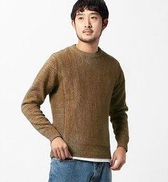 【ビームスメン/BEAMSMEN】サイドリブクルーネックニット[送料無料]