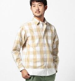 【ビームス メン/BEAMS MEN】 フェイクレイヤード ギンガムチェックシャツ [送料無料]