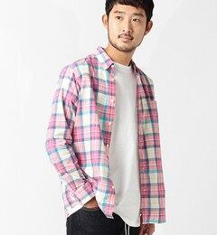 【ビームス メン/BEAMS MEN】 マドラスチェック ボタンダウンシャツ [送料無料]