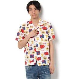 【ビームス メン/BEAMS MEN】 総柄 オープンカラーシャツ [送料無料]