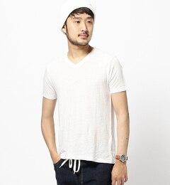 【ビームスメン/BEAMSMEN】フランダースリネンVネックTシャツ[送料無料]