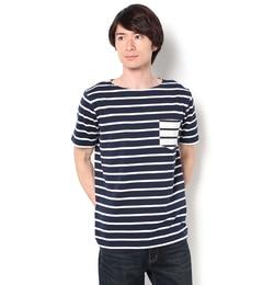 【ビームスメン/BEAMSMEN】ボーダーポケットTシャツ17SS[送料無料]