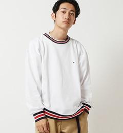 【ビームス メン/BEAMS MEN】 【予約】Champion × BEAMS / 別注 ラインリブ ルーズフィット Tシャツ [送料無料]