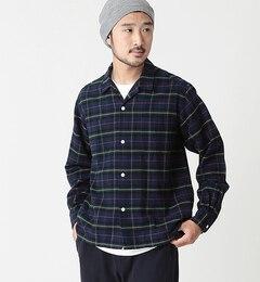 【ビームス メン/BEAMS MEN】 BEAMS / フランネルチェック オープンカラーシャツ [送料無料]