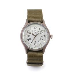 TIMEX / MIL CAMPER ALMI【ビームス メン/BEAMS MEN メンズ 腕時計 OLIVE/OD ルミネ LUMINE】