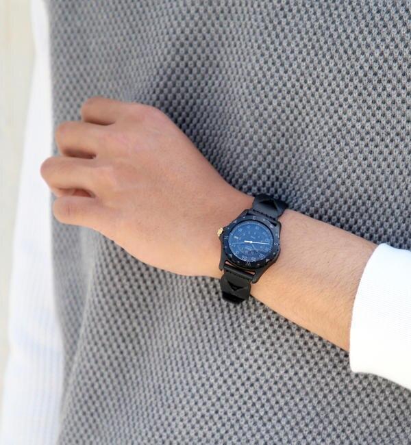 モテ系ファッションメンズ|【ビームス メン/BEAMS MEN】 TIMEX × BEAMS / 別注 SAFARI BLACK ウォッチ [送料無料]