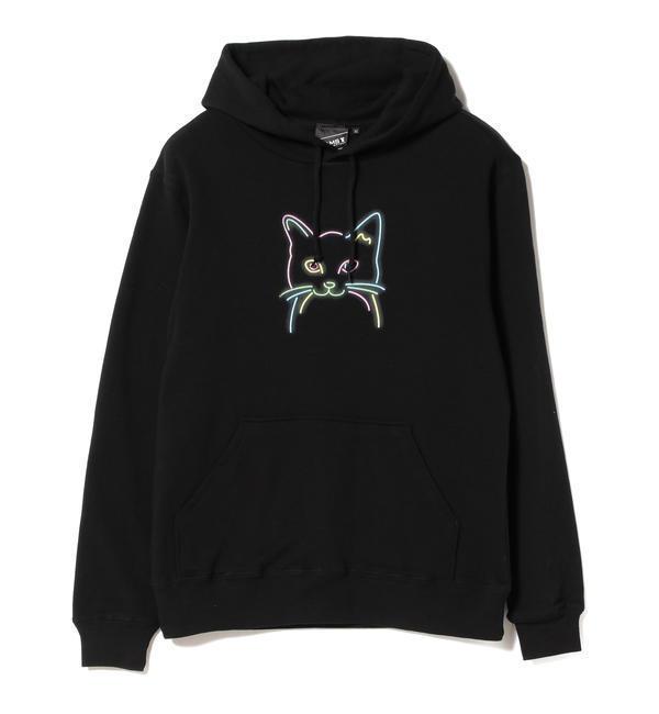 BEAMS T / Cat Sweat Hoodie【ビームス メン/BEAMS MEN メンズ スウェット・ジャージ BLACK ルミネ LUMINE】