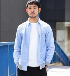 <アイルミネ> ビームス メン厳選 BEAMS / 裾リブ タイプライターシャツ [送料無料]画像