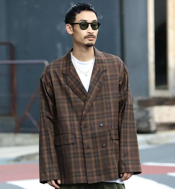 モテ系メンズファッション|【ビームス メン/BEAMS MEN】 BEAMS / オンブレ チェック ダブルブレスト ジャケット