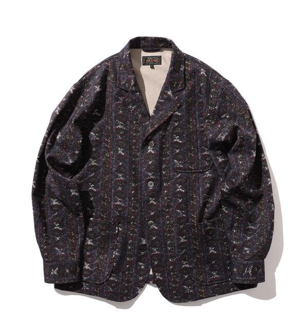 ファッションメンズのイチオシ|【ビームス メン/BEAMS MEN】 BEAMS PLUS / プリント 4ボタン カルゼカフスジャケット