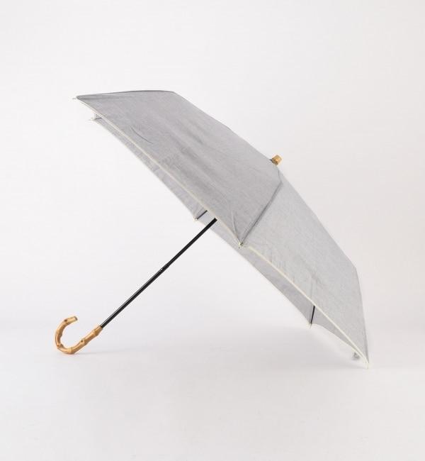 【シップス/SHIPS】 シャンブレ折りたたみ傘 晴雨兼用 [送料無料]