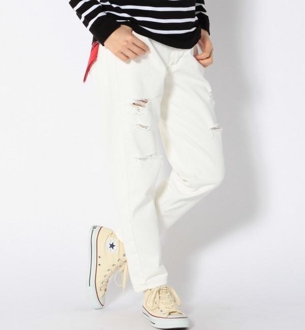 【シップス/SHIPS】 LEE:テーパードダメージwhite [送料無料]