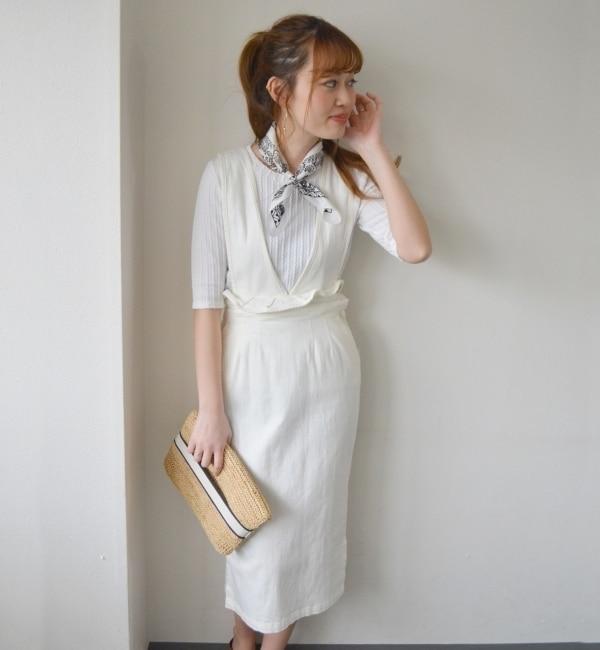 【シップス/SHIPS】 Khaju: サスペンダースカート [送料無料]