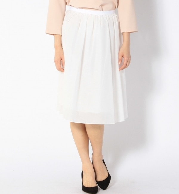 【シップス/SHIPS】 コットンシルクギャザースカート [送料無料]