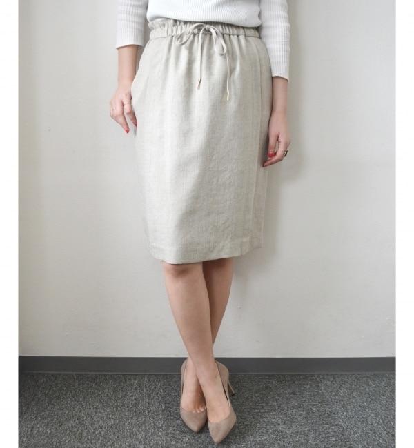 【シップス/SHIPS】 【手洗い可能】ドロストスカート [送料無料]