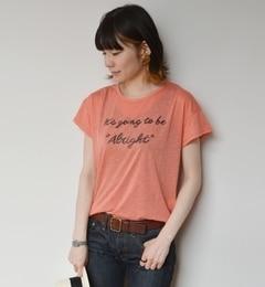 【シップス/SHIPS】 liflattie ships:リネン×レーヨン ミックスプリント Tシャツ [送料無料]