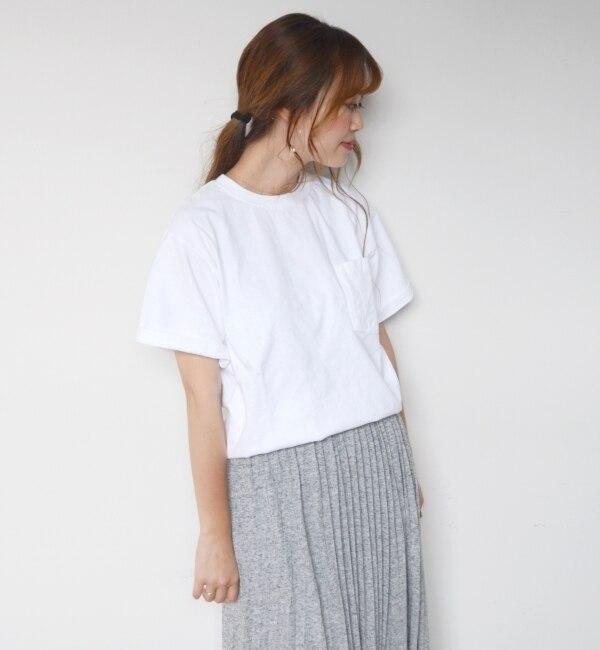 【シップス/SHIPS】 Goodwear: 7.2oz ポケットTEE(white) [送料無料]