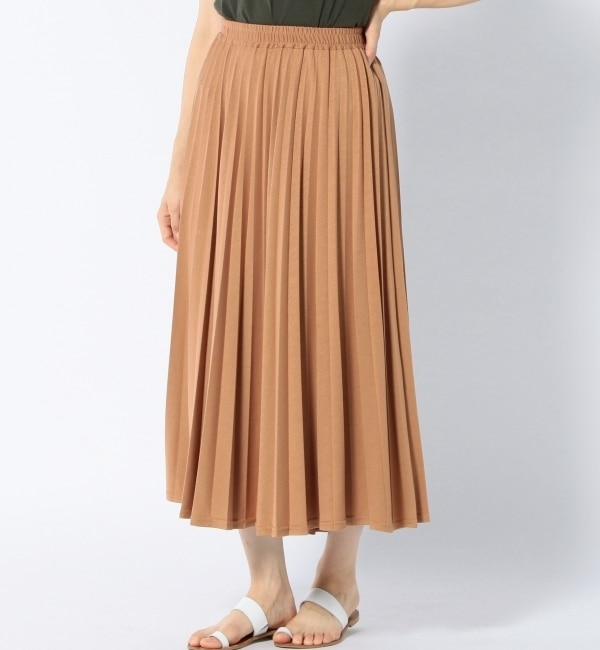 【シップス/SHIPS】 Khaju: カットプリーツマキシスカート [送料無料]