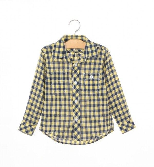 【シップス/SHIPS】 SHIPS KIDS:シャーリング チェックシャツ(100?130cm) [送料無料]