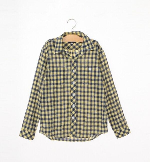 【シップス/SHIPS】 SHIPS KIDS:シャーリング チェックシャツ(145?160cm) [送料無料]