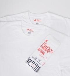 【シップス/SHIPS】 Hanes×SHIPS AUTHENTIC PRODUCTS: 2パック/Tシャツ Japan Fit■ [3000円(税込)以上で送料無料]